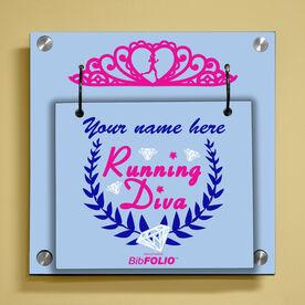 Personalized Running Diva Tiara Wall BibFOLIO® Display
