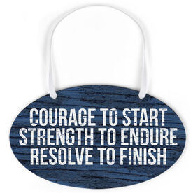 Running Oval Sign - Courage To Start