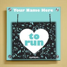Personalized Heart To Run Wall BibFOLIO® Display