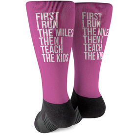 Running Printed Mid-Calf Socks - Then I Teach The Kids