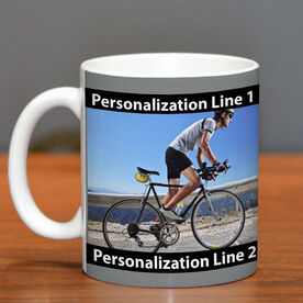 Triathlon Coffee Mug Custom Photo with Color