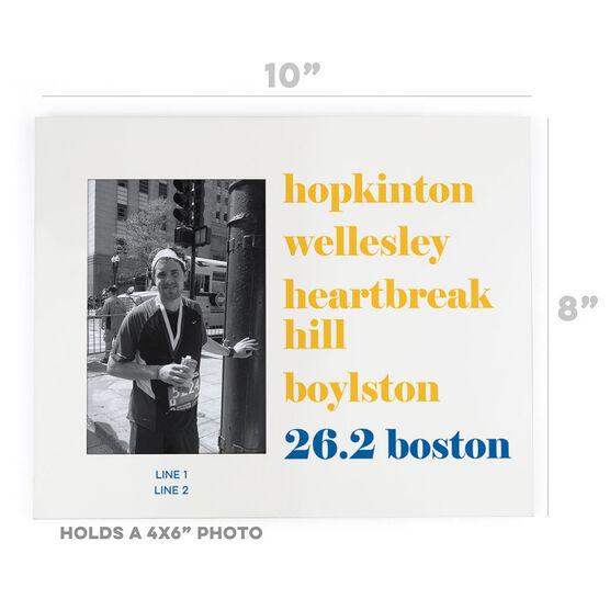 Running Photo Frame - Run Mantra - 26.2 Boston