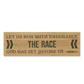"""Running 12.5"""" X 4"""" Printed Bamboo Removable Wall Tile - Let Us Run"""