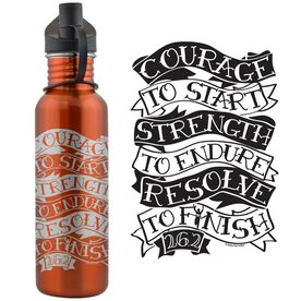 Courage Strength Resolve 24 oz Stainless Steel Water Bottle