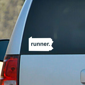 Pennsylvania State Vinyl RUNNERDecal