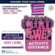 Virtual Race - Running on Girl Power Custom Activity & Distance