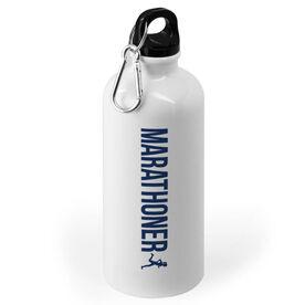 Running 20 oz. Stainless Steel Water Bottle - Marathoner Girl