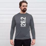 Men's Running Long Sleeve Tech Tee - Philadelphia 26.2 Vertical