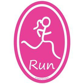 Run Girl Decal (Pink)