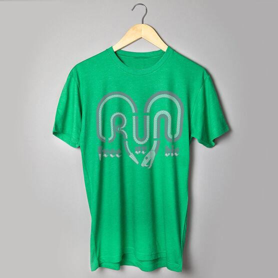 Running Short Sleeve T-Shirt - Run Free Or Die Snake