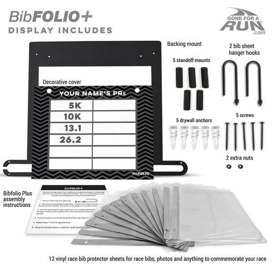 BibFOLIO+™ Race Bib and Medal Display Dry Erase My PRs Chevron