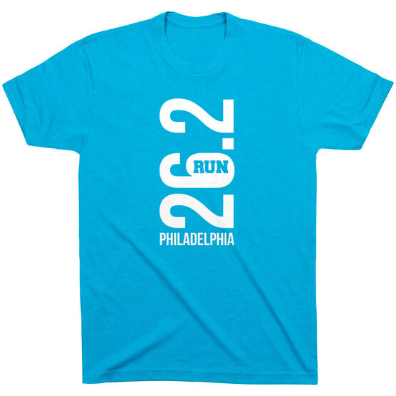 Running Short Sleeve T-Shirt - Philadelphia 26.2 Vertical