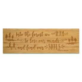 """Running 12.5"""" X 4"""" Engraved Bamboo Removable Wall Tile - Into The Forest"""