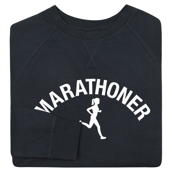 Running Raglan Crew Neck Sweatshirt - Marathoner Girl