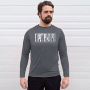 Men's Running Long Sleeve Tech Tee - Run Where the Wild Things Are