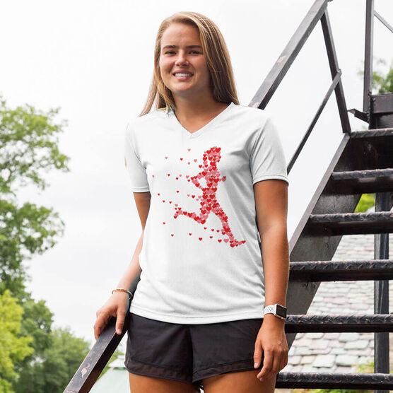 Women's Running Short Sleeve Tech Tee - Heartfelt Run