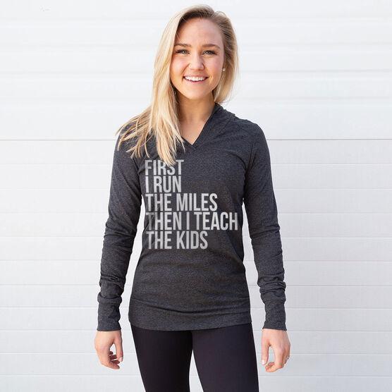Women's Running Lightweight Performance Hoodie - Then I Teach The Kids