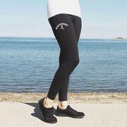 Running High Print Leggings - Marathoner Silhouette