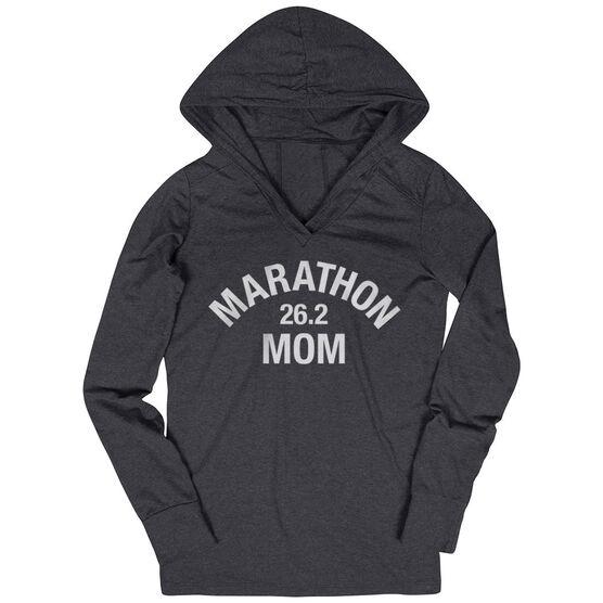 Women's Running Lightweight Performance Hoodie - Marathon 26.2 Mom