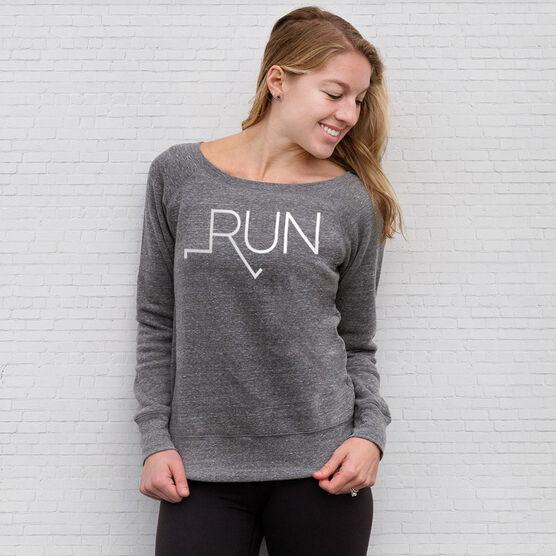 Running Fleece Wide Neck Sweatshirt - Let's Run