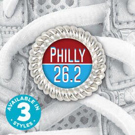 Shoe Lace Charm Philly 26.2