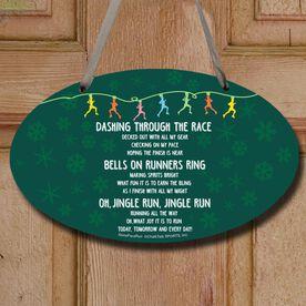 Jingle Run Decorative Oval Sign