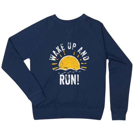 Running Raglan Crew Neck Sweatshirt - Wake Up And Run
