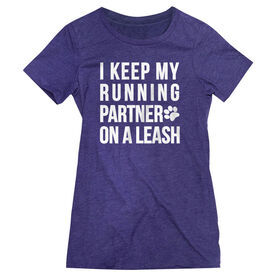 Women's Everyday Runners Tee - I Keep My Running Partner On A Leash