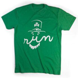 Running Short Sleeve T-Shirt - Leprechaun Run Face