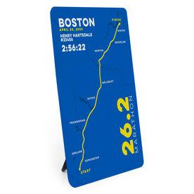 Running Desk Art - Boston 26.2 Route