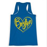 Women's Performance Tank Top - Love The Run Boston 26.2