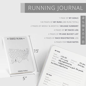 GoneForaRun Running Journal - States I've Run