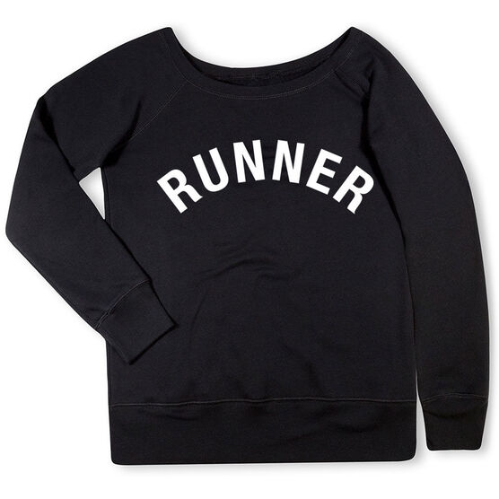Running Fleece Wide Neck Sweatshirt - Runner Arc