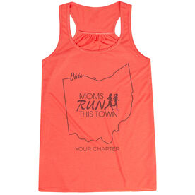 Flowy Racerback Tank Top - Moms Run This Town Ohio Runner