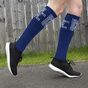 Running Printed Knee-High Socks - Then I Drink The Beer