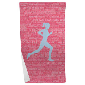 Running Beach Towel Inspiration Female