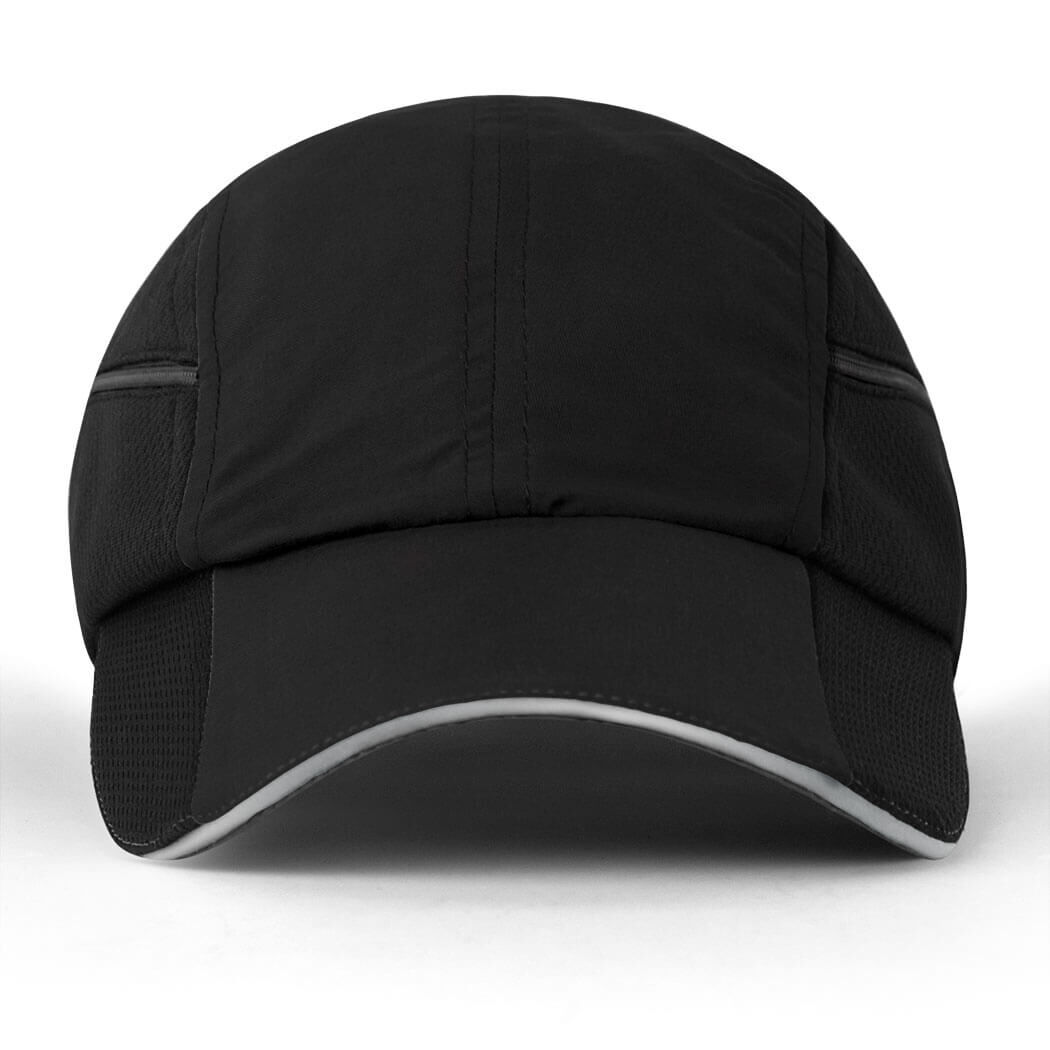 Black or Blue Reflective Safety Jogging//Running Baseball Hat Quick Ship!