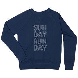 Running Raglan Crew Neck Sweatshirt - Sunday Runday (Stacked)