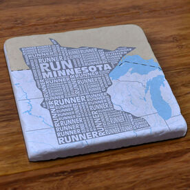 Minnesota State Runner Stone Coaster