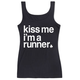Running Women's Athletic Tnk Top - Kiss Me I am a Runner Saying