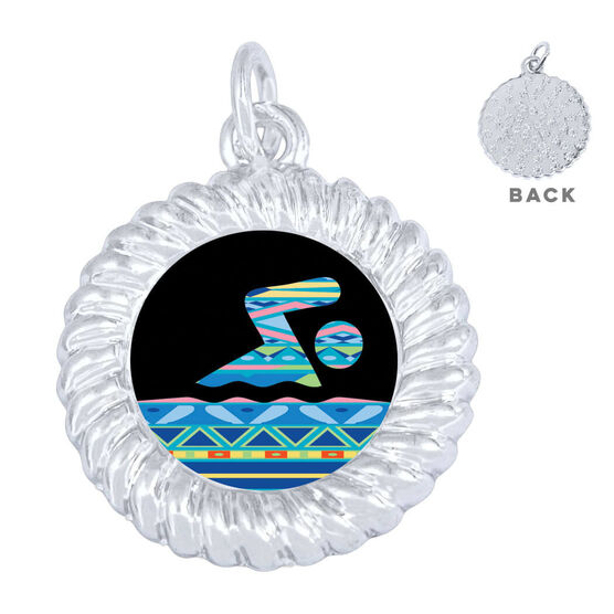 Swimming Braided Circle Necklace - Tribal Swimmer