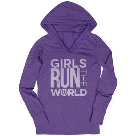 Women's Running Lightweight Performance Hoodie - Girls Run The World