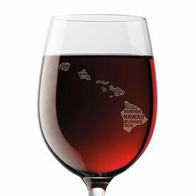 Wine Glass Hawaii State Runner