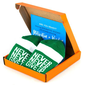 Socrates® Socks Gift Box - Never Never Give Up