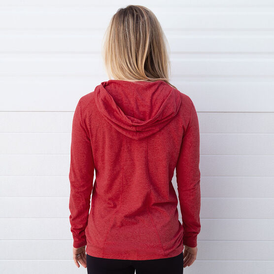 Women's Running Lightweight Performance Hoodie 26.2 Marathon Vertical