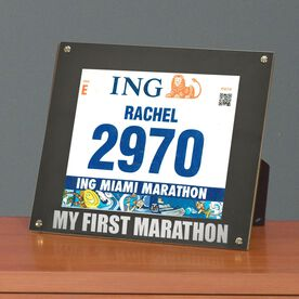 BibDISPLAY - Runners Race Bib Frame - My First Marathon