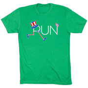 Running Short Sleeve T-Shirt - Let's Run for America