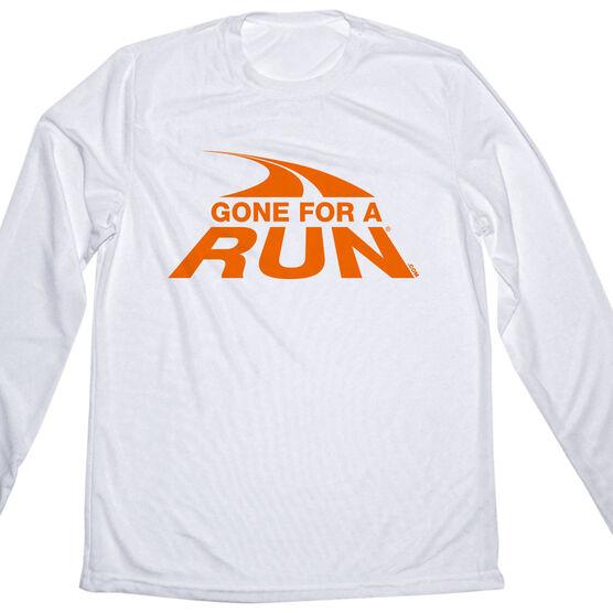 Men's Running Long Sleeve Tech Tee Gone For a Run Logo (Orange)