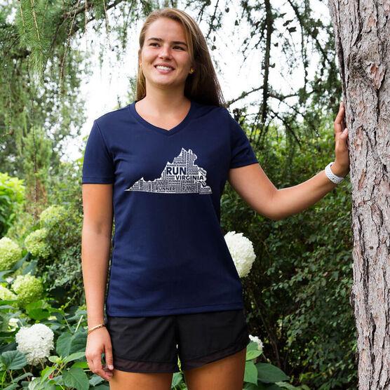 Women's Running Short Sleeve Tech Tee Virginia State Runner