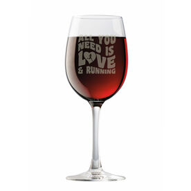 Running Wine Glass All You Need Is Love And Running